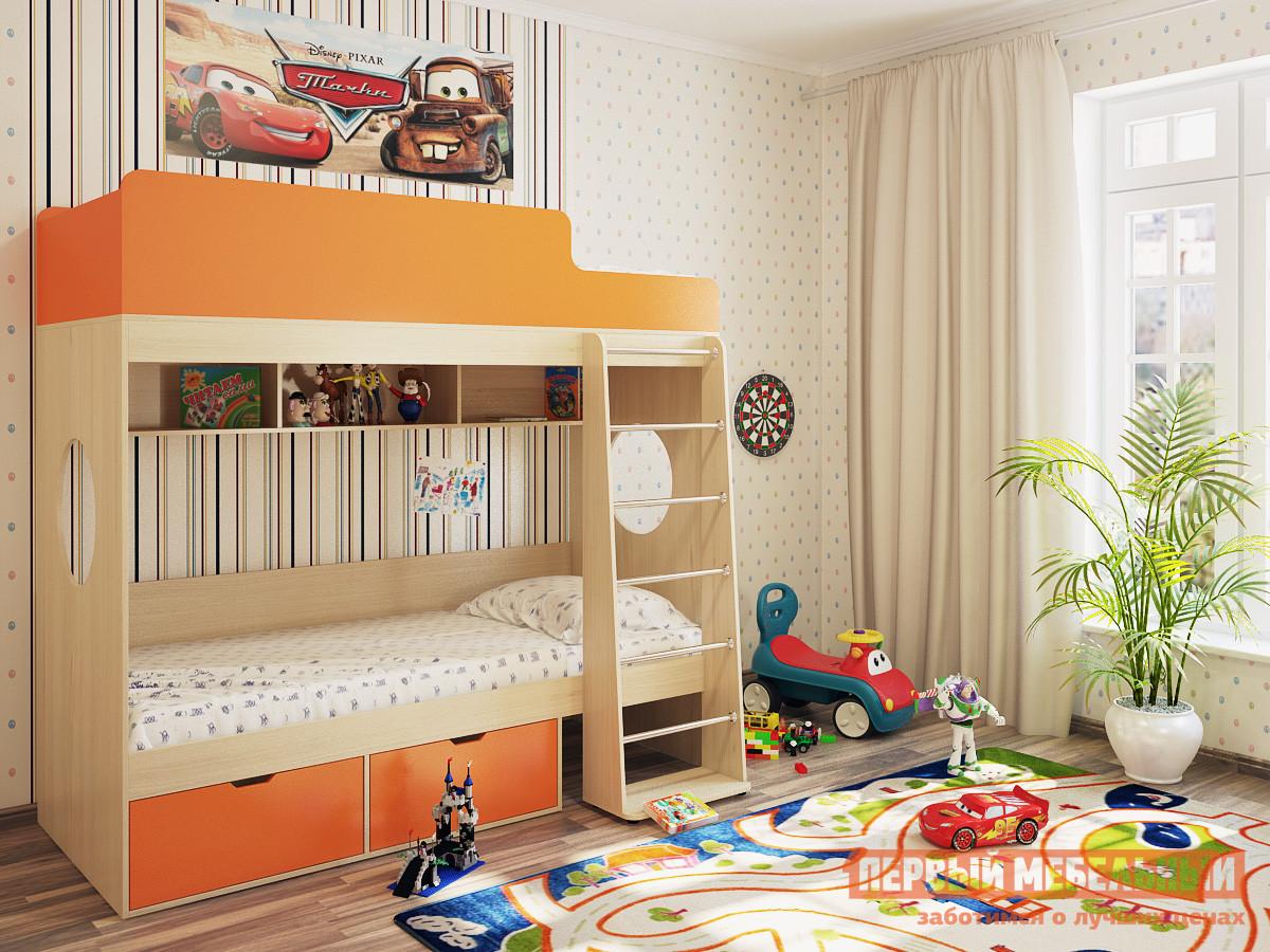 Двухъярусная кровать Милана Милана-2 Дуб двухъярусная кровать милсон милана duo 200 х 80 см красная