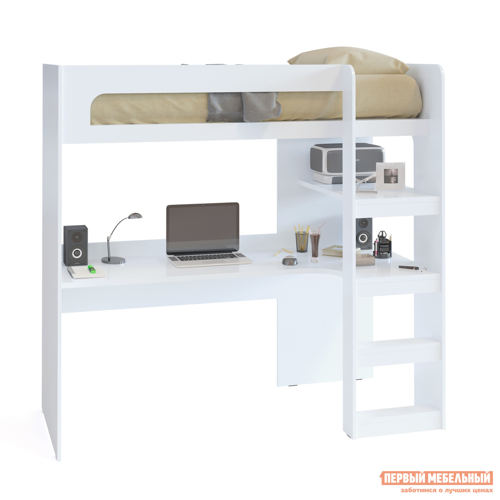 Кровать-чердак Тайга Ангара-1 Белый