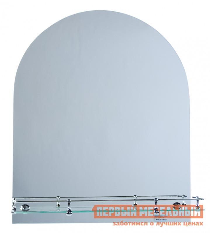 Настенное зеркало Зеркальные грани 0172 (500*600) с креп. (н2к2) с полкой Зеркало серебряное, Без ограничителя