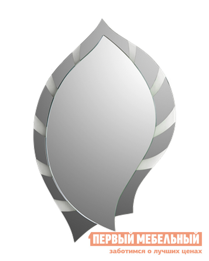 Настенное зеркало Зеркальные грани 0448 (750*550) с креп. (к2) Зеркало серебряное / Зеркало тонированое