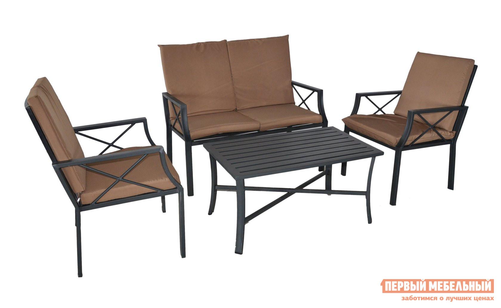 Комплект садовой мебели из металла Kvimol КМ-0313 комплект садовой мебели 4 1 t285a y 292a