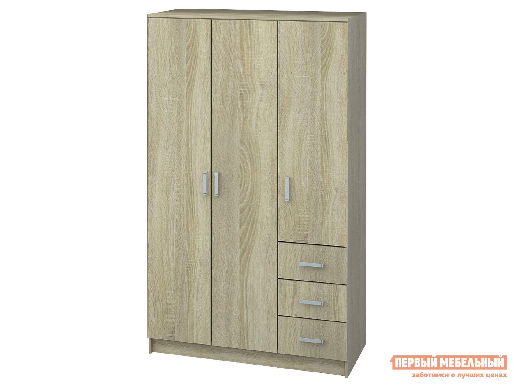 Шкаф распашной НК-Мебель Лофт шкаф 3-х дв. с ящиками шкафы 3 х дверные с ящиками лофт