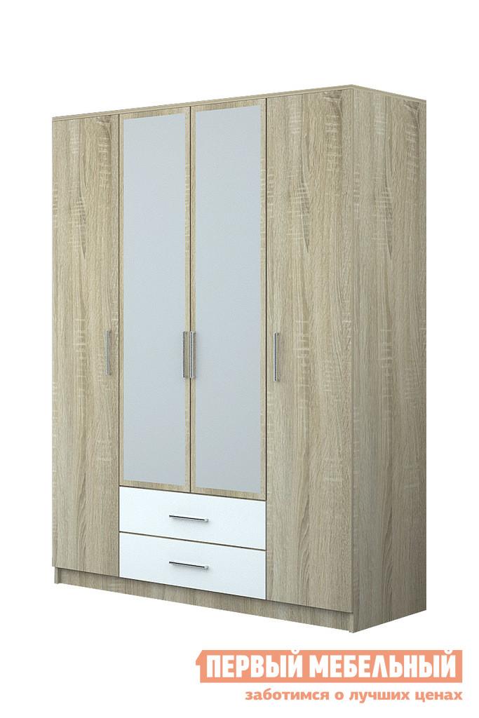 Шкаф распашной НК-Мебель Ломбардо Ш-4 шкаф витрина нк мебель верди в