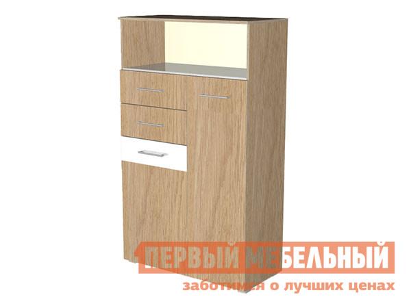 Комод  Верди К Дуб Сонома / Белый глянец