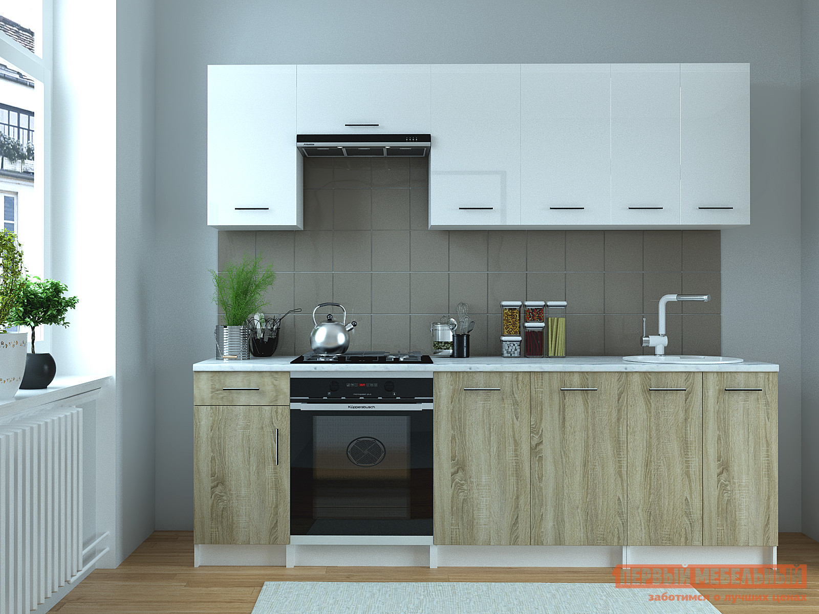 Кухонный гарнитур НК-Мебель Арамина 240 см спальный гарнитур нк мебель марика к1