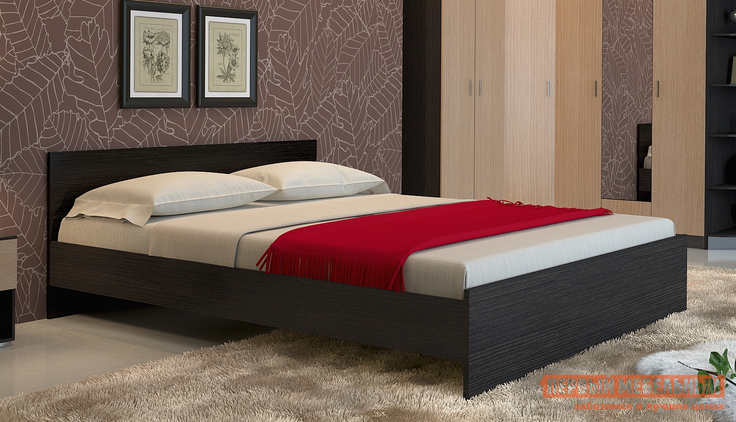 Кровать НК-Мебель Паулина 1 шкаф распашной нк мебель паулина 6