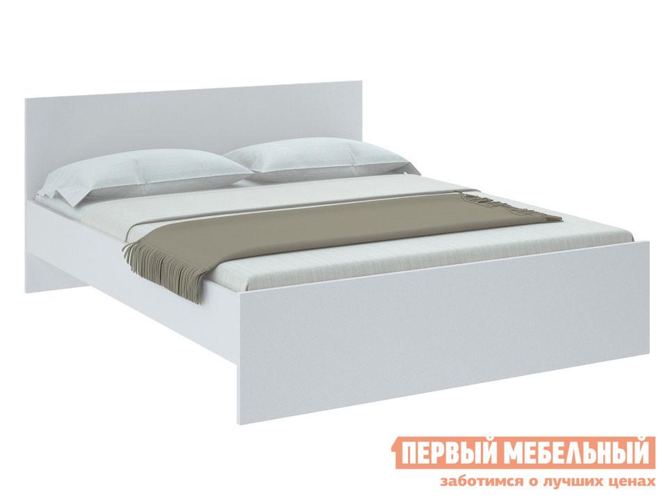Двуспальная кровать  НИКОЛЬ кровать Белый, 1400 Х 2000 мм, С основанием — НИКОЛЬ кровать Белый, 1400 Х 2000 мм, С основанием