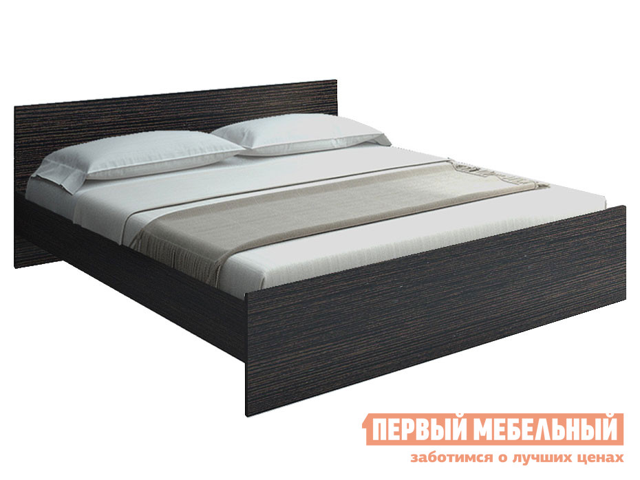Двуспальная кровать  НИКОЛЬ кровать 1400 Х 2000 мм, С основанием, Венге — НИКОЛЬ кровать 1400 Х 2000 мм, С основанием, Венге