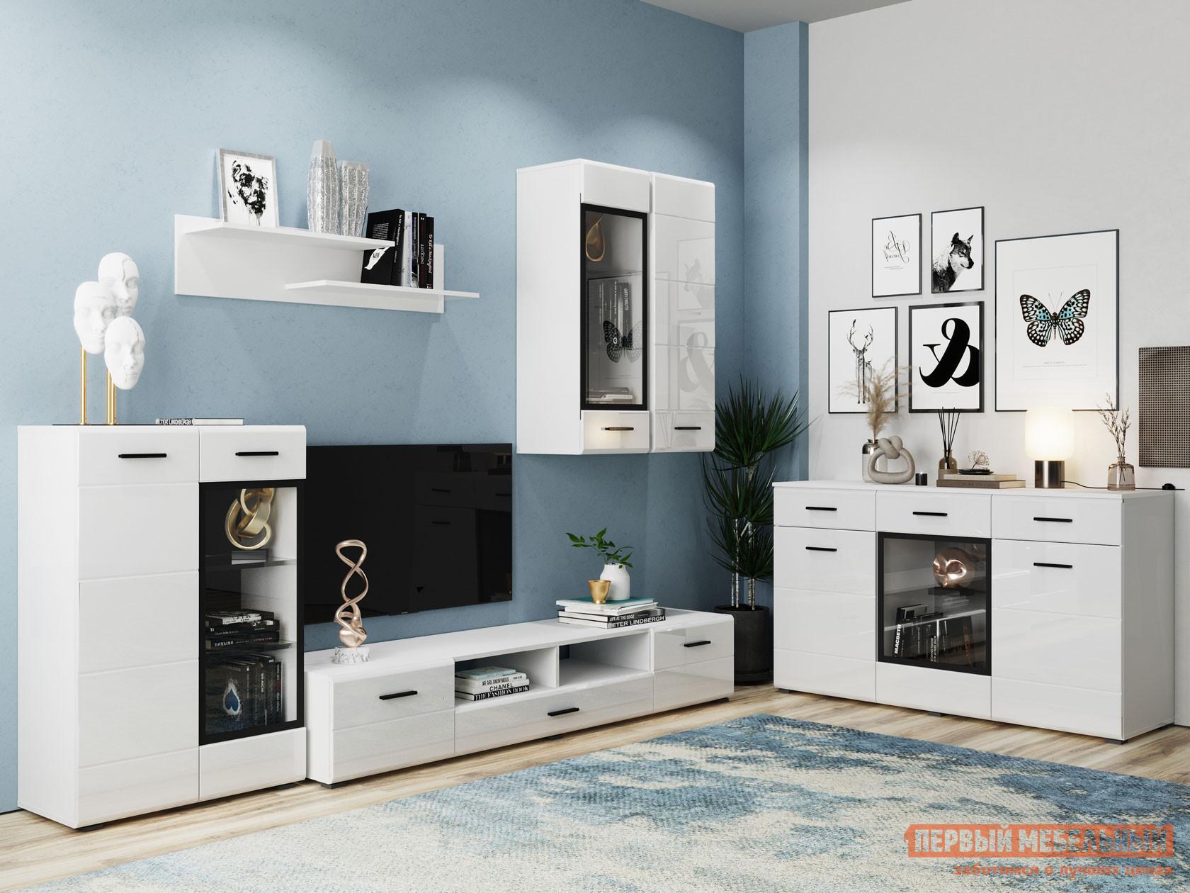 Гостиная НК-Мебель Комплект мебели GLOSS для гостиной №2 спальный гарнитур нк мебель комплект мебели для спальни тиберия к2