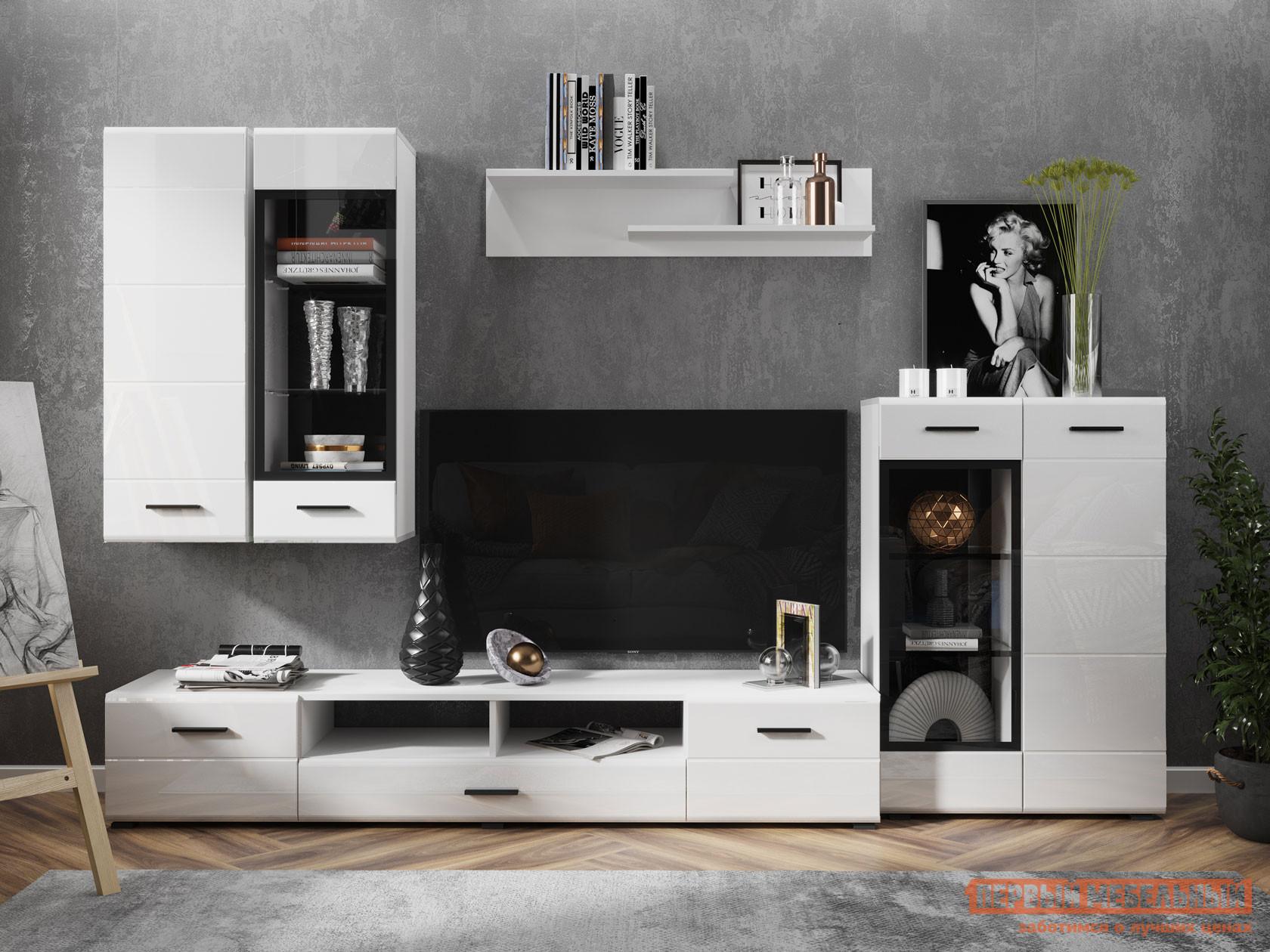 Гостиная НК-Мебель Комплект мебели GLOSS для гостиной №1 спальный гарнитур нк мебель комплект мебели для спальни тиберия к2