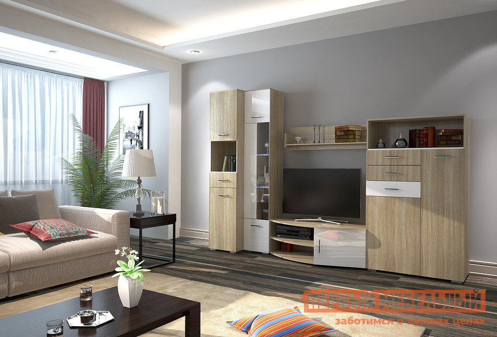 Стенка для гостиной НК-Мебель Верди К-2 шкаф витрина нк мебель верди в