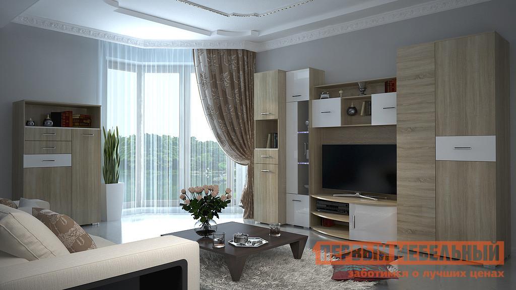 Стенка для гостиной НК-Мебель Верди К-1 шкаф витрина нк мебель верди в