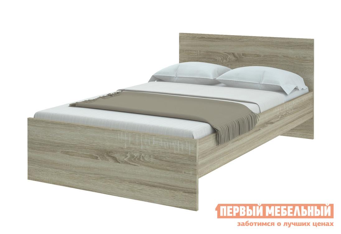 Полутороспальная кровать НКМ Танита Дуб Сонома, 1400 Х 2000 мм, С основанием