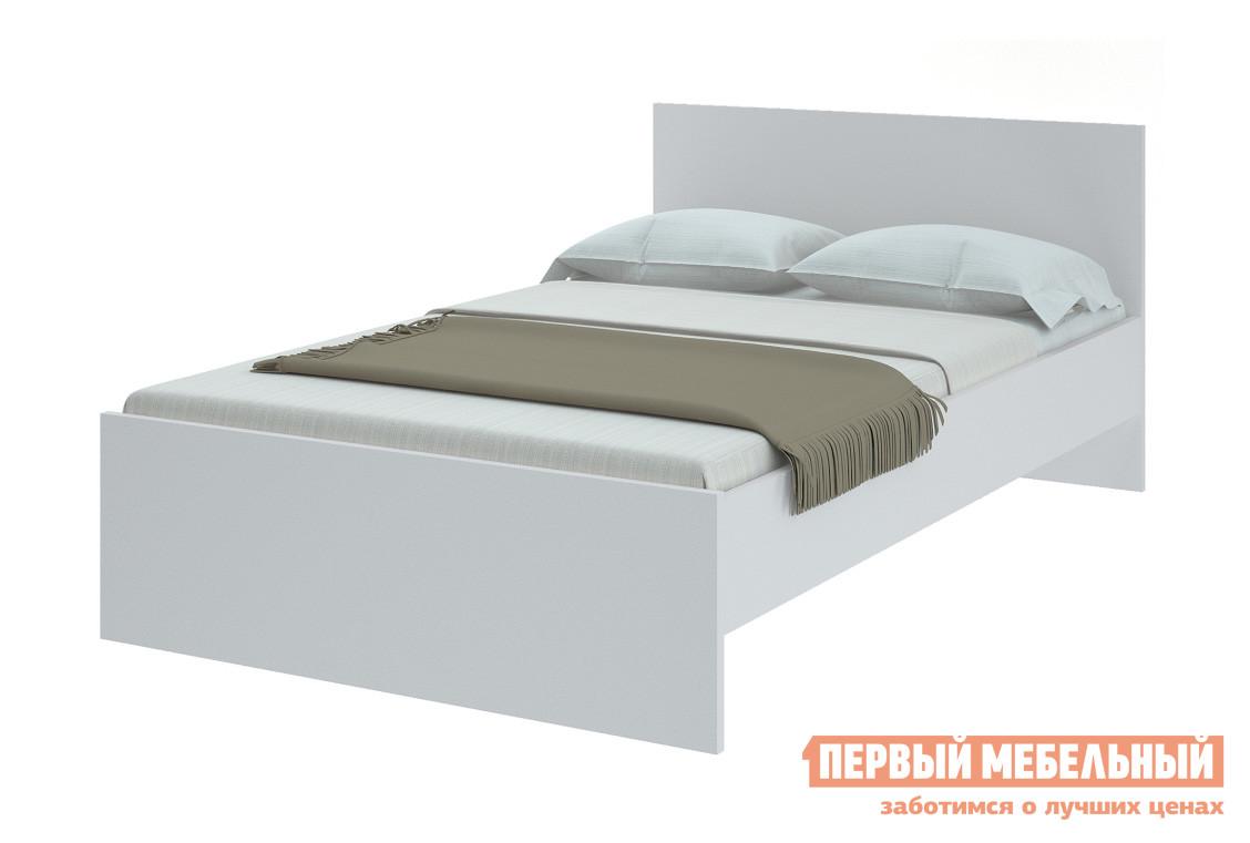 Фото Полутороспальная кровать НКМ Танита Белый, 1400 Х 2000 мм, С основанием. Купить с доставкой