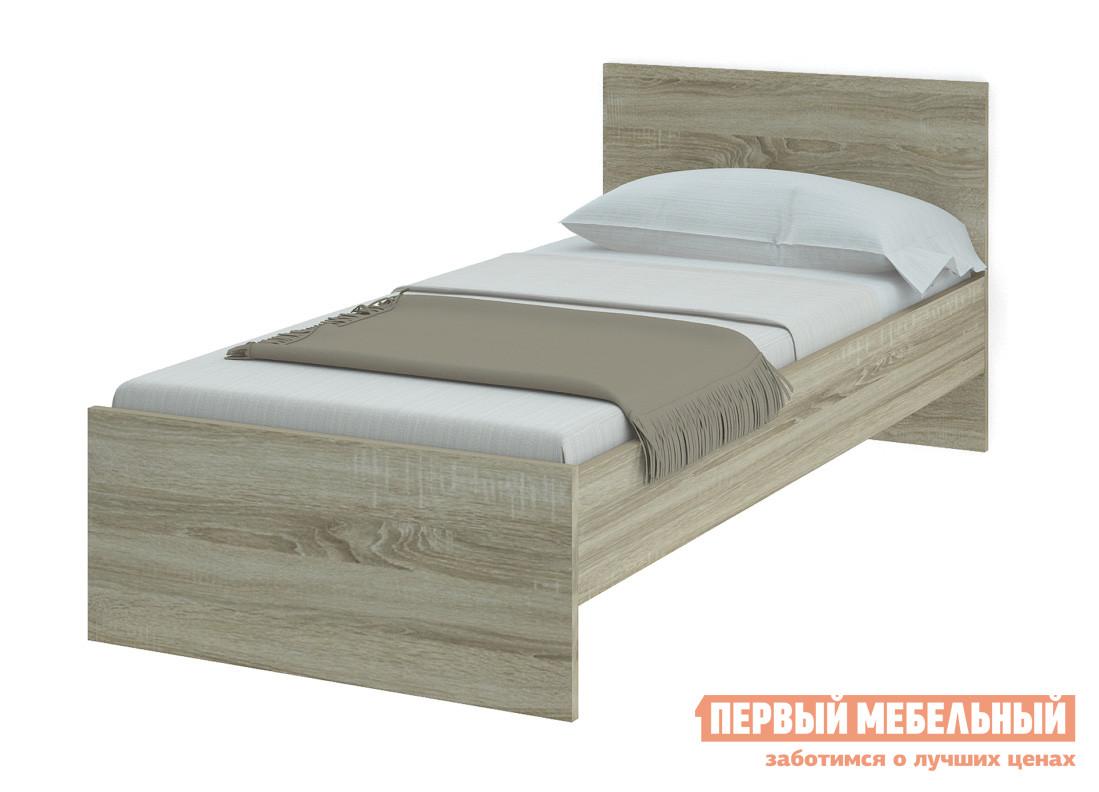 Односпальная кровать НКМ Танита Дуб Сонома, 900 Х 2000 мм, Без основания