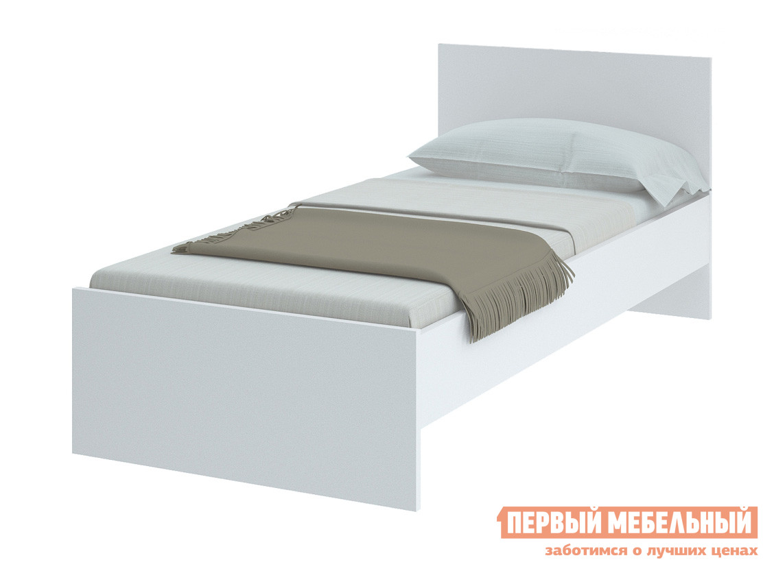 Кровать НКМ Танита Белый, 900 Х 2000 мм, Без основания