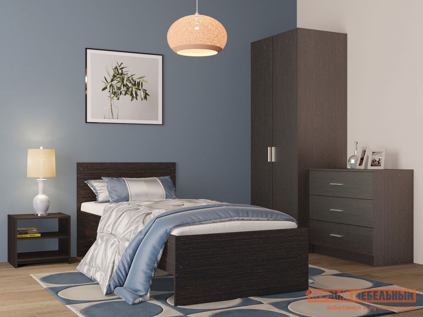 Спальный гарнитур НК-Мебель Комплект мебели для спальни Тиберия К1