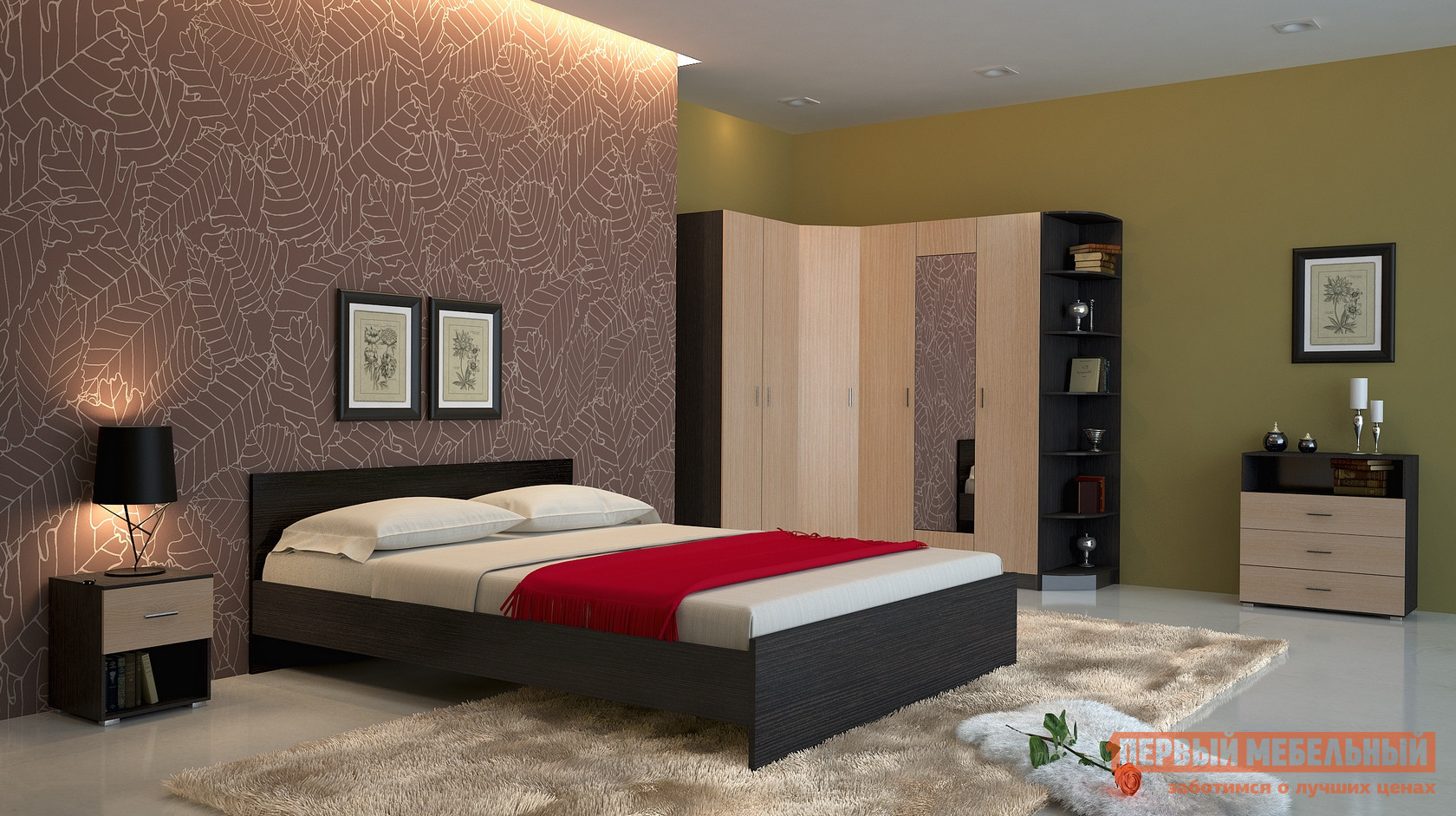 Спальный гарнитур НК-Мебель Паулина К1 спальный гарнитур орматек этюд к1