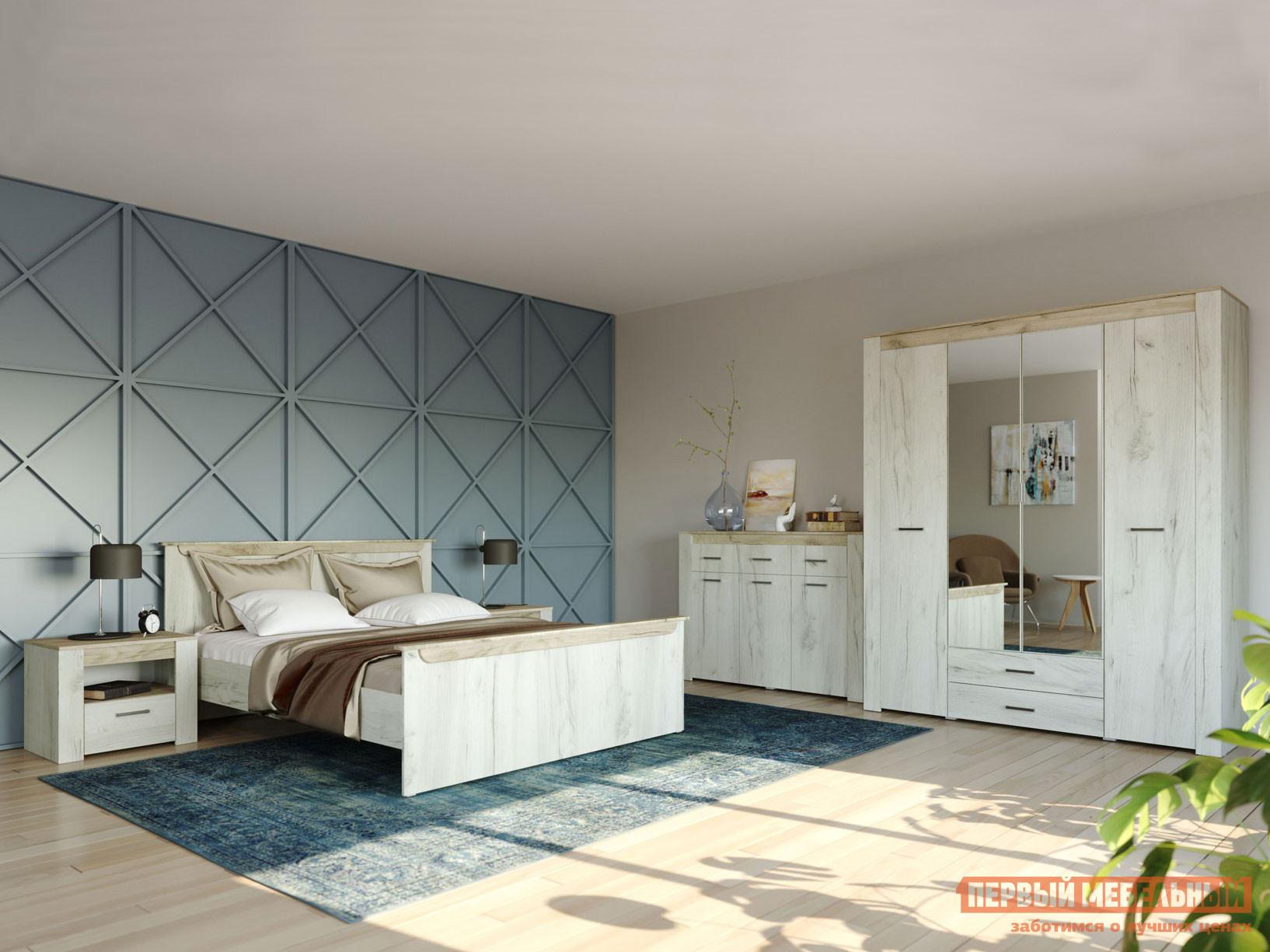 Спальный гарнитур НК-Мебель Комплект мебели для спальни Прага К1 спальный гарнитур нк мебель комплект мебели для спальни тиберия к2