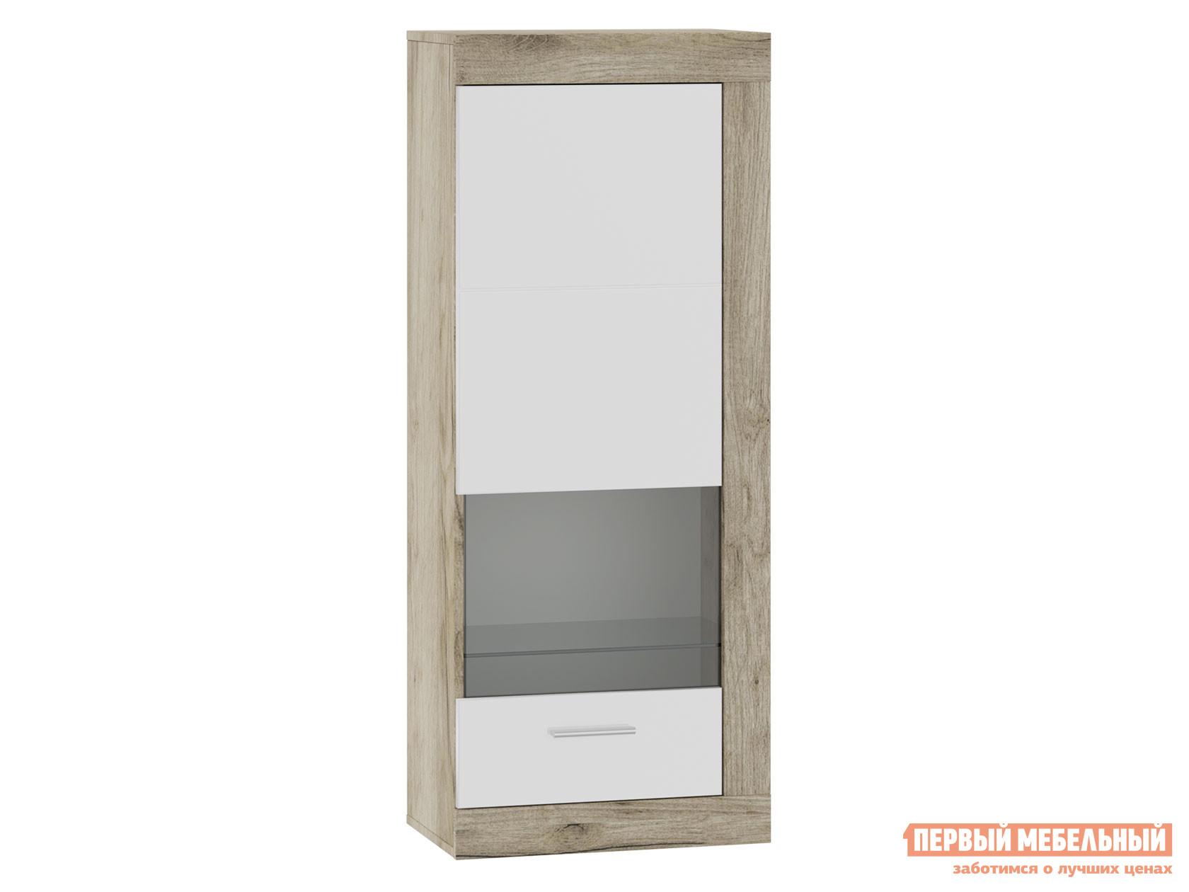 Шкаф-витрина Первый Мебельный 71280121 ГЕНЕЗИС шкаф навесной(витрина)
