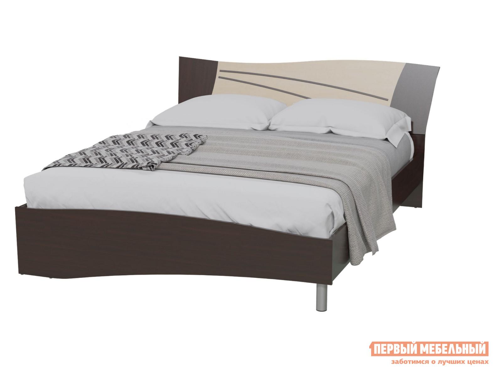 Кровать Гранд Кволити 4-1809 Венге / Береза,Без тумбы,Без матраса от Купистол