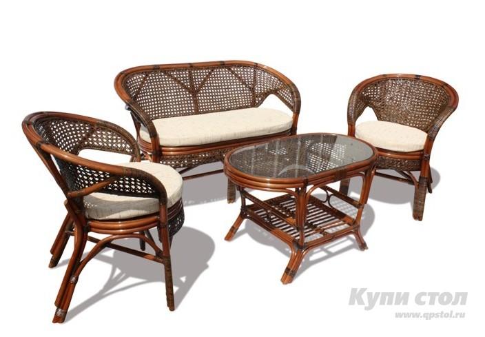 Комплект плетеной мебели 02/15/1 КупиСтол.Ru 23360.000