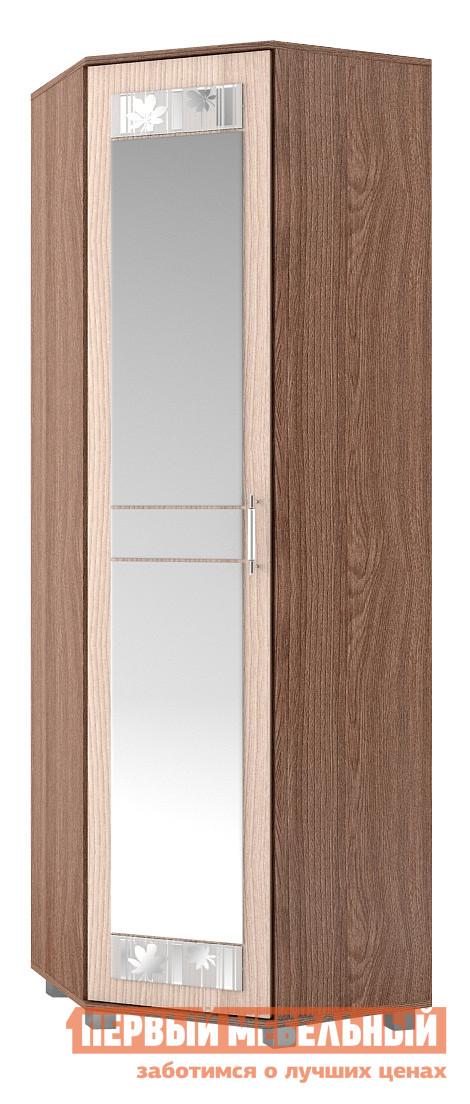 Шкаф распашной МСТ Диана модуль 10 (Шкаф угловой с/з)  Ясень Шимо темный / светлыйШкафы распашные<br>Габаритные размеры ВхШхГ 2000x660x660 мм. Вместительный угловой шкаф для хранения одежды с зеркальной дверью поможет визуально расширить пространство коридора.  Комбинируя модули данной серии, вы сможете подобрать оптимальное для вашей комнаты сочетание элементов. Изделие выполнено из ЛДСП первого сорта.  Края отделаны кантом  ПВХ 0. 4 и 2 мм. Товар поставляется в разобранном виде, хорошо упакован в гофротару.  В комплект входит инструкция.<br><br>Цвет: Темное-cветлое дерево<br>Высота мм: 2000<br>Ширина мм: 660<br>Глубина мм: 660<br>Кол-во упаковок: 3<br>Форма поставки: В разобранном виде<br>Срок гарантии: 24 месяца<br>Тип: Угловые<br>Материал: ЛДСП<br>Размер: Однодверные<br>С зеркалом: Да