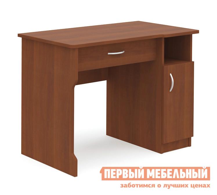 Письменный стол МСТ Юниор 3 Итальянский орехПисьменные столы<br>Габаритные размеры ВхШхГ 750x900x550 мм. Компактный письменный стол — отличное решение для организации рабочего места дома и в офисе.  Благодаря небольшим размерам, стол не займет много места. Модель оснащена выдвижным ящиком для канцелярских мелочей, шкафчиком и полкой. Удобный и практичный вариант. Изделие производится из ЛДСП, края обработаны кромкой ПВХ.<br><br>Цвет: Итальянский орех<br>Цвет: Коричневое дерево<br>Высота мм: 750<br>Ширина мм: 900<br>Глубина мм: 550<br>Кол-во упаковок: 1<br>Форма поставки: В разобранном виде<br>Срок гарантии: 24 месяца<br>Тип: Прямые<br>Материал: Деревянные, из ЛДСП<br>Размер: Маленькие, Шириной 90 см<br>Особенности: С ящиками, Без надстройки, С тумбой, С полками, Дешевые<br>Стиль: Современный, Модерн