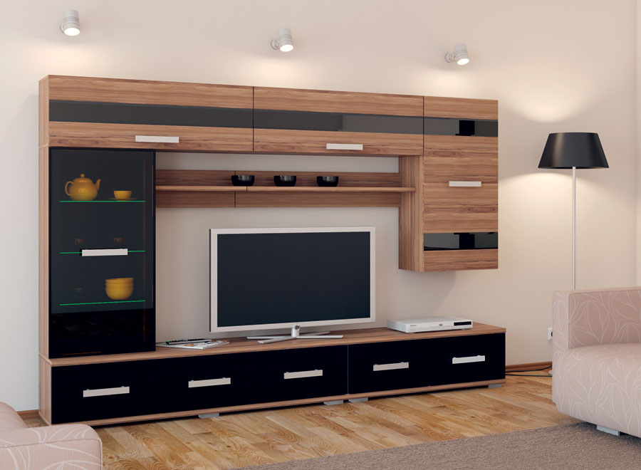Шкаф-витрина Сенатор мод.  4 (Шкаф навесной с подсветкой) КупиСтол.Ru 11610.000