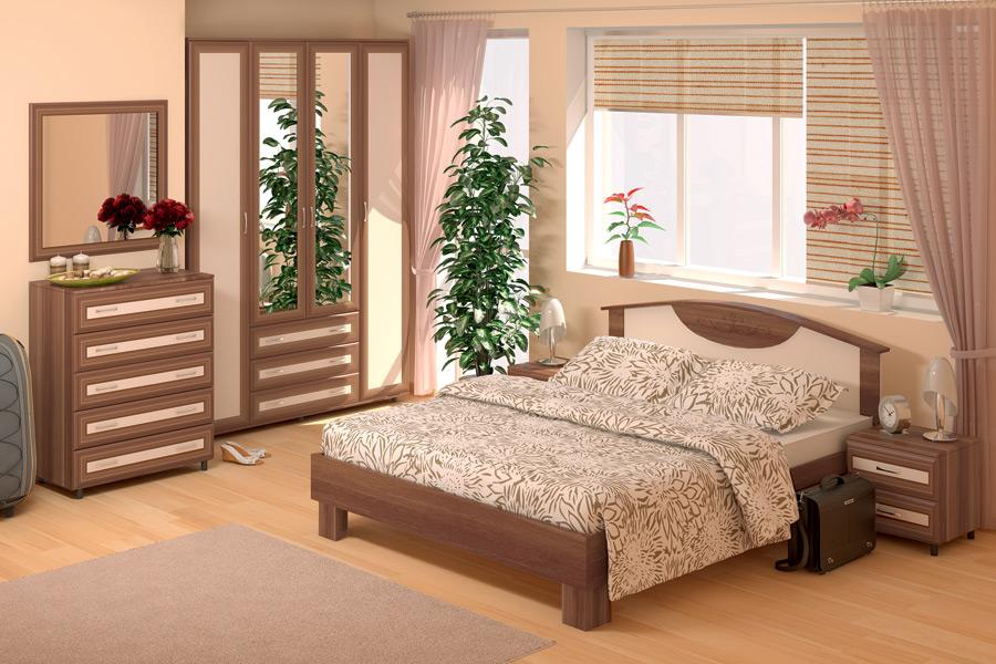 Кровать Кровать Карина Люкс МДФ 1,6 б/м + ортопед. основание (мод.4) КупиСтол.Ru 8970.000
