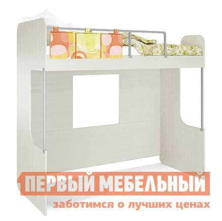 Кровать-чердак МСТ Умка мод. 3 + мод. 3.1 Рамух белый / Саммер, Без матраса МСТ Габаритные размеры ВхШхГ 1865x2068x844 мм. Большая детская кровать-чердак, выполненная в оригинальном дизайне. <br>Пространство под кроватью позволяет разместить дополнительную кровать шириной 2000 мм, или компьютерный стол, создав рабочий уголок. </br>Ограничители кровати выполнены из металлических прутьев, которые дополнены стильной накладкой с кармашками для игрушек и разных мелочей.  <br>Корпус модели оснащен окошками, которые разнообразят игровое пространство комнаты.  Все углы кровати имеют скругления, что снижает травмоопасность. <br>Размер спального места — 800 Х 2000 мм. <br>Обратите внимание! Вы можете выбрать удобный вариант покупки кровати: с матрасом или без него.  С моделью матраса, который входит в комплект кровати, можно ознакомиться в разделе «Аксессуары».  Лестница в комплект кровати не входит, ее необходимо приобретать отдельно. <br>Изделие выполняется из ЛДСП, ограничители — металл, карман — ткань. <br>