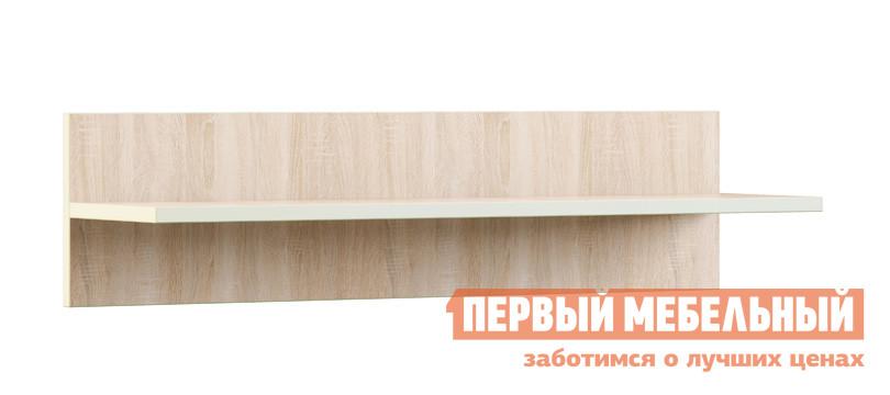 Настенная полка МСТ Оливия Модуль №11 Дуб Сонома светлый / Жемчуг глянец