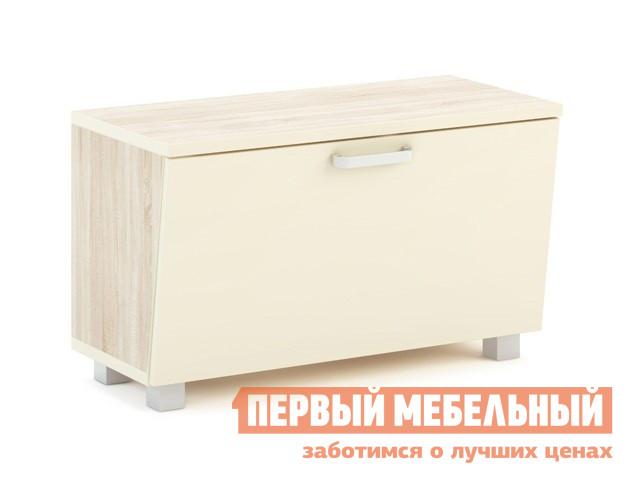 Банкетка МСТ Оливия Модуль №27 Дуб Сонома светлый / Жемчуг глянец