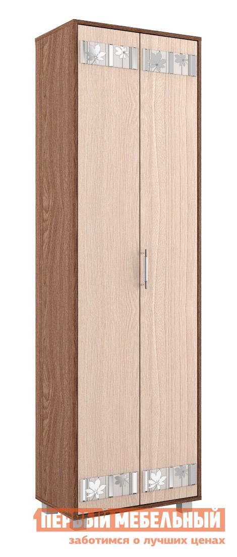 Шкаф-гармошка МСТ Диана модуль 5 (Шкаф-гармошка) Ясень Шимо темный / светлыйШкафы-гармошки<br>Габаритные размеры ВхШхГ 2000x600x380 мм. Шкаф-гармошка для верхней одежды.  Обратите внимание!Двери шкафа открываются только в левую сторону.  Комбинируя модули данной серии, вы сможете подобрать оптимальное для вашей комнаты сочетание элементов. Изделие выполнено из ЛДСП первого сорта.  Края отделаны кантом  ПВХ 0. 4 и 2 мм. Товар поставляется в разобранном виде, хорошо упакован в гофротару.  В комплект входит инструкция.<br><br>Цвет: Темное-cветлое дерево<br>Высота мм: 2000<br>Ширина мм: 600<br>Глубина мм: 380<br>Кол-во упаковок: 2<br>Форма поставки: В разобранном виде<br>Срок гарантии: 24 месяца