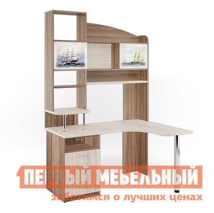 Компьютерный стол МСТ Капитан Ясень шимо темный / светлый / Корабли