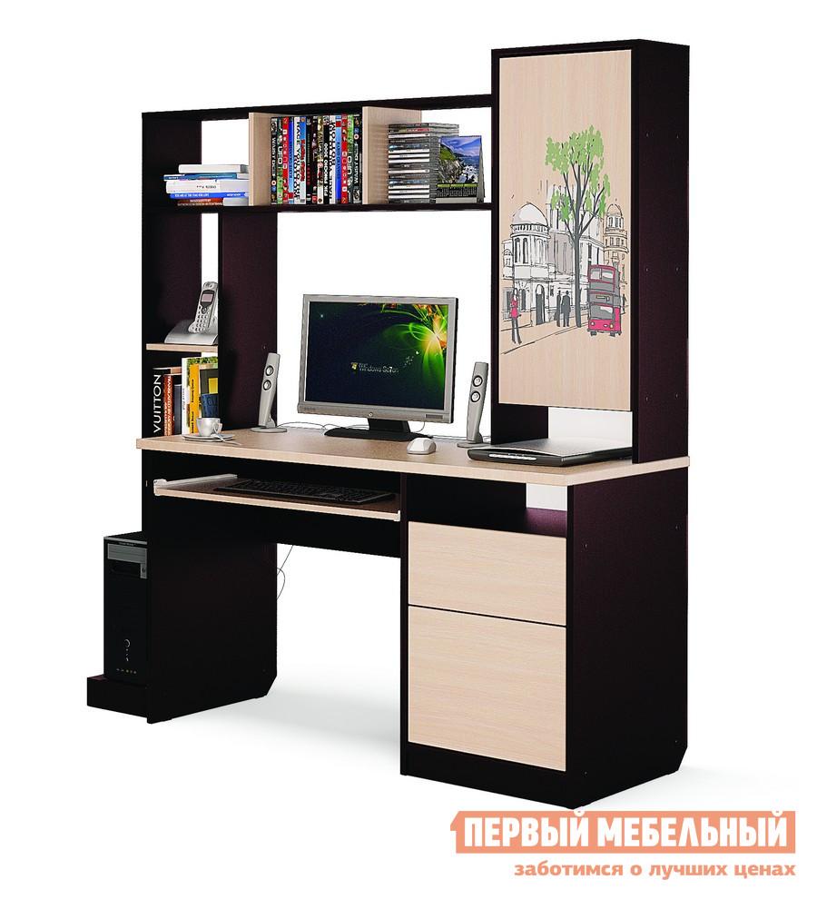 Фото Компьютерный стол МСТ Оксфорд Дуб венге / Дуб савона. Купить с доставкой