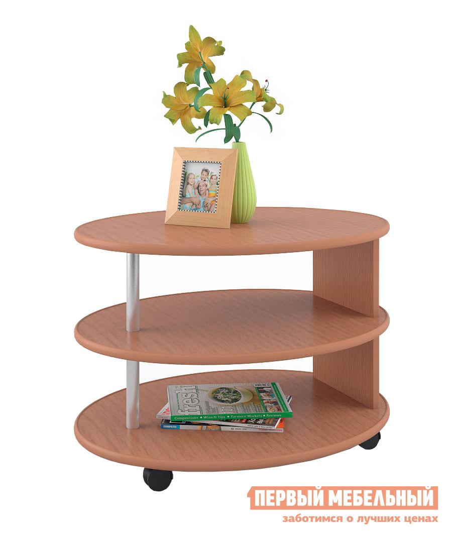 Журнальный столик МСТ Олимп Бук Бавария светлыйЖурнальные столики<br>Габаритные размеры ВхШхГ 570x780x550 мм. Овальный журнальный стол с тремя уровнями.  Такая конструкция позволит вам разместить большое количество предметов.  Одна стойка выполнена из ДСП, вторая  металлическая, вы сможете переворачивать столик и менять тем самым интерьер комнаты в случае необходимости.   Благодаря колесным опорам стол легко можно перемещать по комнате.  Изделие выполнено из ЛДСП первого сорта.  Края отделаны кантом  ПВХ 0. 4 и 2 мм. Товар поставляется в разобранном виде, хорошо упакован в гофротару.  В комплект входит инструкция.<br><br>Цвет: Бук Бавария светлый<br>Цвет: Светлое дерево<br>Высота мм: 570<br>Ширина мм: 780<br>Глубина мм: 550<br>Кол-во упаковок: 1<br>Форма поставки: В разобранном виде<br>Срок гарантии: 24 месяца<br>Назначение: Для гостиной<br>Материал: из ЛДСП<br>Форма: Овальные<br>Размер: Маленькие<br>Высота: Высокие<br>Особенности: С полкой, На колесиках<br>Стиль: Классический