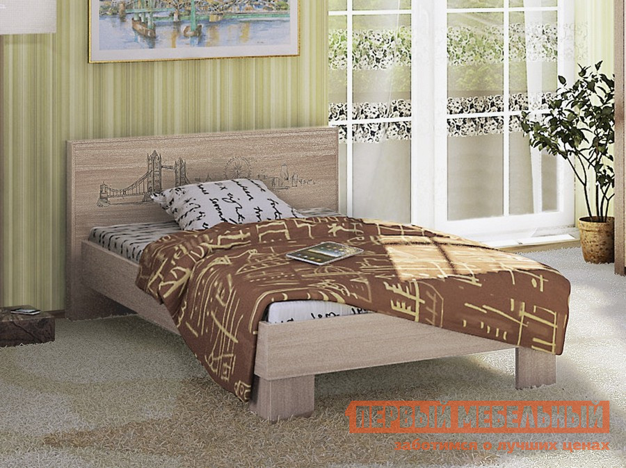 Детская кровать МСТ Город модуль № 2 (кровать 1.2) + ортопед. основание 1,2