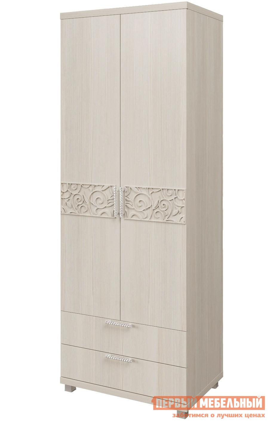 Шкаф распашной Арника 08 «Ирис» Шкаф для белья 2-х дверный с ящиками Дуб бодега