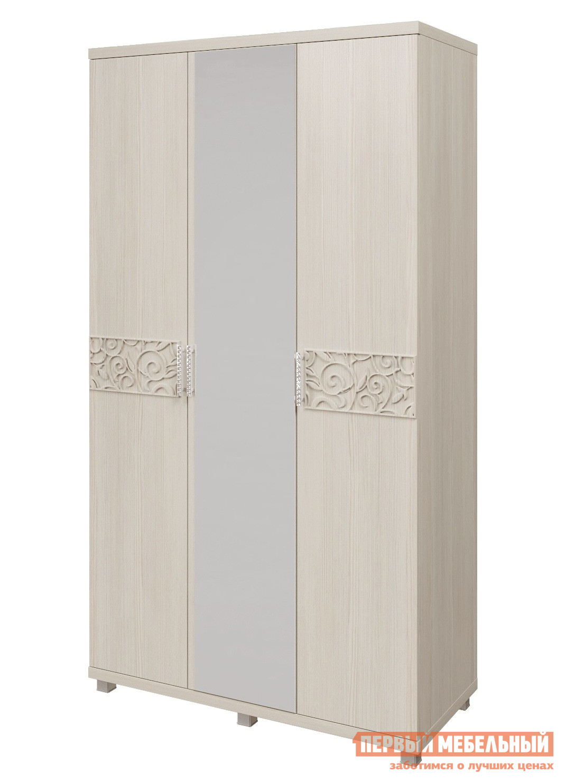 Шкаф распашной ТД Арника 09 «Ирис» Шкаф для платья и белья 3-х дверный