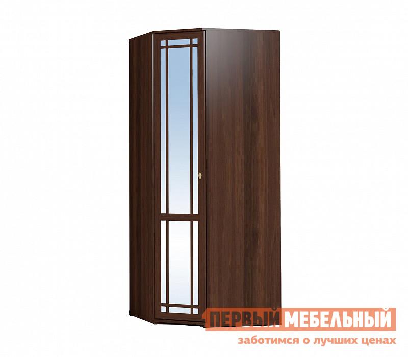 Шкаф распашной  Sherlock10 (гостиная) Шкаф угловой Орех Шоколадный, С зеркалом