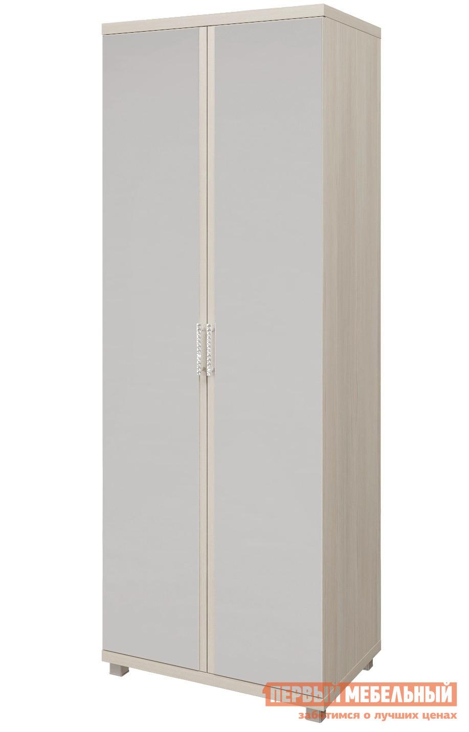 Шкаф распашной ТД Арника 10 «Ирис» Шкаф для одежды 2-х дверный с зеркалом