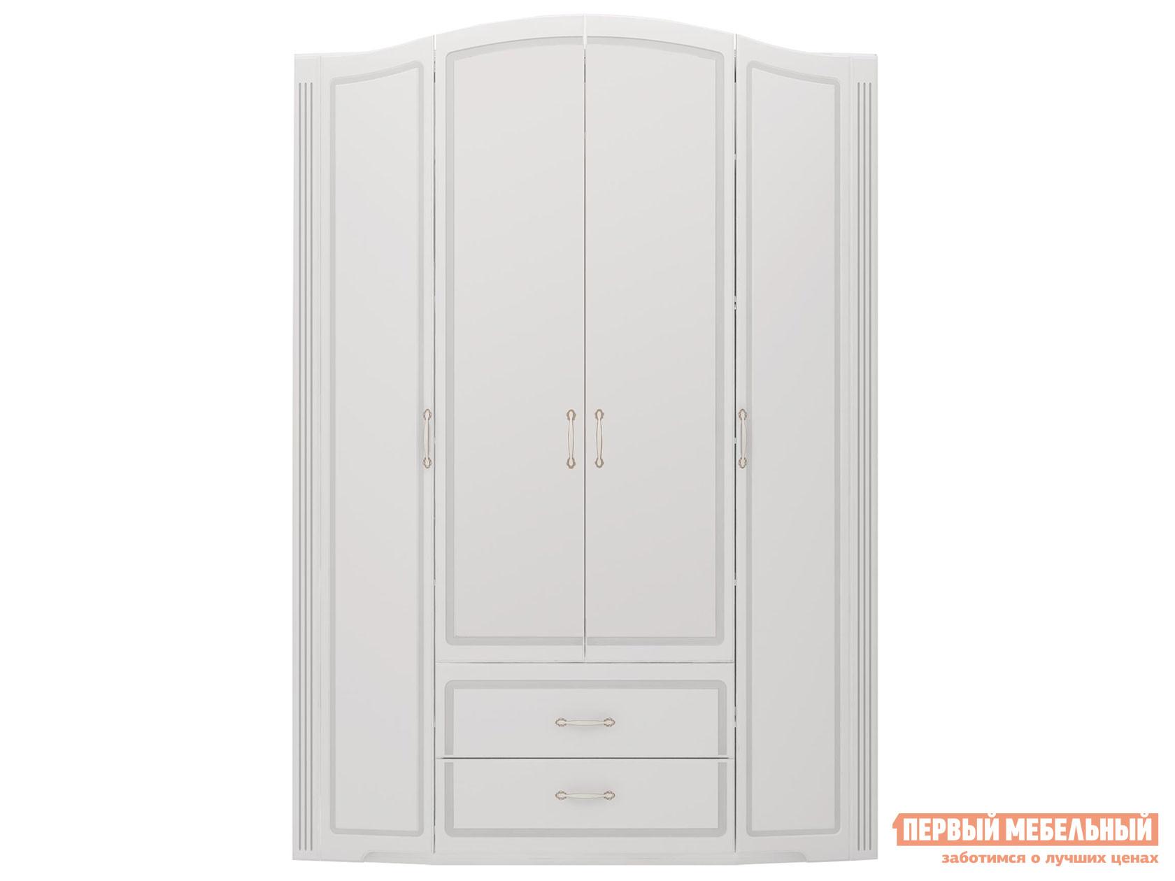 Шкаф распашной  Виктория 02 Белый глянец