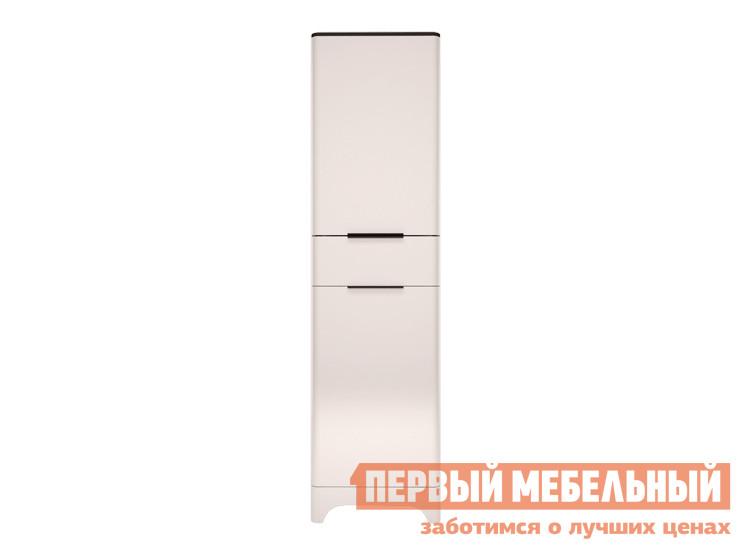 Шкаф распашной  Танго 17 Белый, черный матовый / Белый глянец
