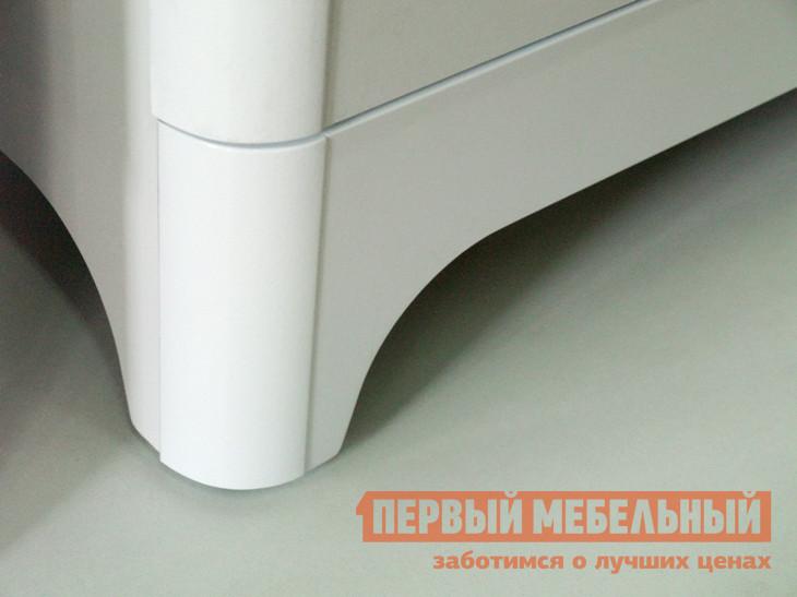 Комод Ижмебель Танго 03 Белый, черный матовый / Белый глянец