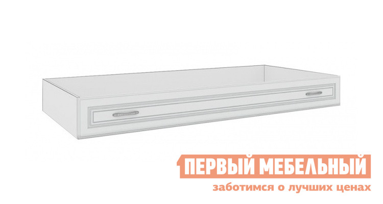 Ящик Кентавр 2000 30 Ящик дивана-кровати Дуб выбеленный / МДФ ясень белый / Патина серебро