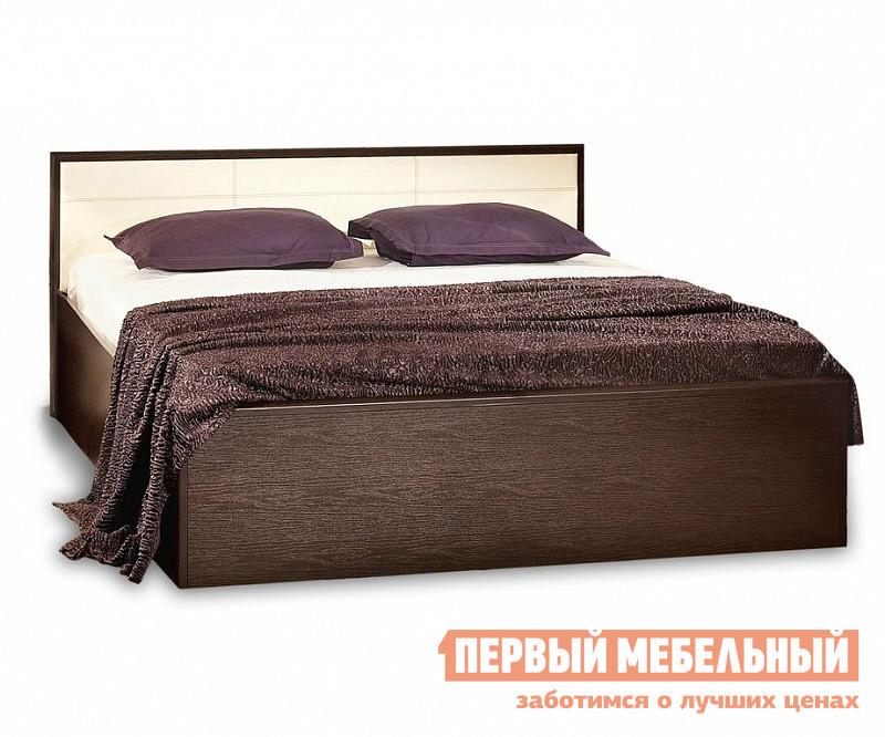 Кровать Глазов-Мебель АМЕЛИ x Кровать (деревянные ламели) Венге, Спальное место 1400 X 2000 мм, С основанием