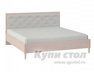 Кровать Глазов-Мебель MONTPELLIER  Кровать x 1600 Х 2000 мм, Дуб млечный, Без матраса