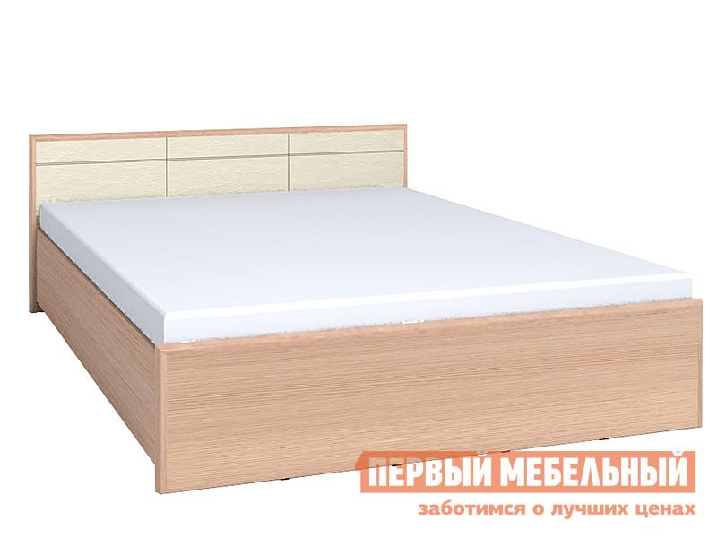 Кровать Глазов-Мебель АМЕЛИ x Дуб Беленый, Спальное место 1400 X 2000 мм, Без ортопедического основания