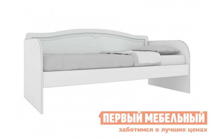 Детская кровать Кентавр 2000 21 Диван-кровать Белый / МДФ ясень белый / Патина серебро